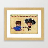 Mexican Chibis Framed Art Print