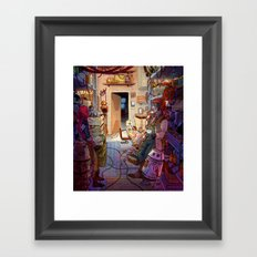 Quick Chat Framed Art Print