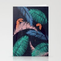 Palms In The Sand   Anim… Stationery Cards