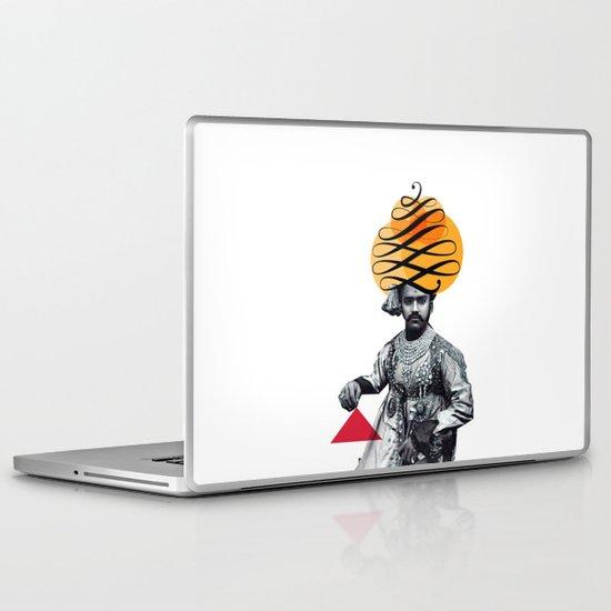 Lettering is a Maharaja's turban Laptop & iPad Skin