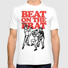 Beat on the Brat White SMALL Mens Fitted Tee