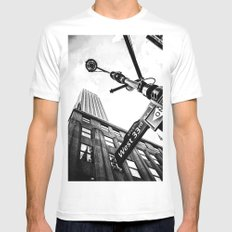 West 33rd street Mens Fitted Tee SMALL White