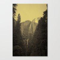 Yosemite Falls Tin Yellow Canvas Print