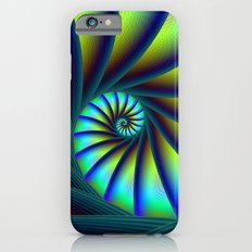 Staircase Spiral in Blue and Turquoise iPhone 6 Slim Case