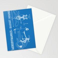 The Aerodynamics of a Basset Hound Stationery Cards