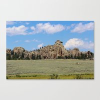 Mother Nature's Rock Sculpture Canvas Print