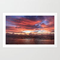 Kapa'a Sunrise Art Print