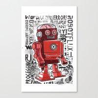 Robot Flux Canvas Print
