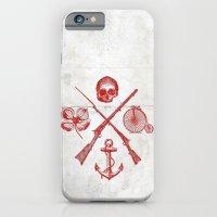 Skull Flower Rifle Bicyc… iPhone 6 Slim Case