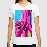 S & 6 Contemplate - With Determination - The Audacity of Climbing the Giant Magic Pink Tree Womens Fitted Tee Ash Grey SMALL