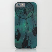 iPhone & iPod Case featuring Dreamcatcher (teal) by christinarashel
