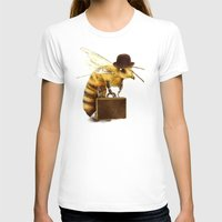 bee T-shirts featuring Worker Bee by Eric Fan