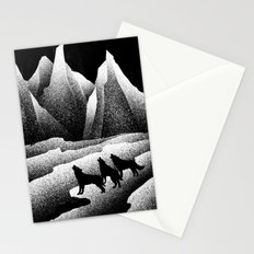 wolves howl Stationery Cards