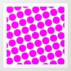 BIG PINK DOT Art Print