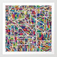 Kaku Technicolor Art Print