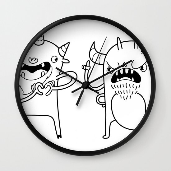 Monster Dialogues Wall Clock