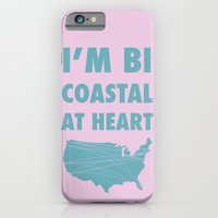 iPhone & iPod Case featuring Bicoastal At Heart by TigerWolf
