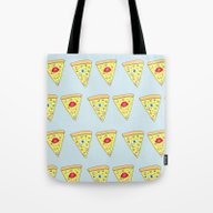 Happiness Is Pizza Tote Bag