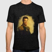 Jean Claude Van Damme - replaceface Mens Fitted Tee Tri-Black SMALL