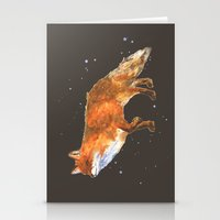 Midnight Snow Fox - Fox … Stationery Cards