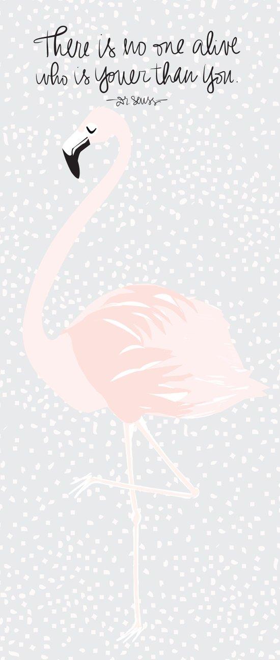 Flamingo Right Canvas Print