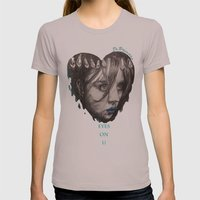 Eyes On You    BY.Davy W… Womens Fitted Tee Cinder SMALL