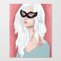 Girl in Mask Canvas Print
