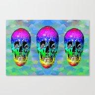Skull Disco Rainbow Canvas Print