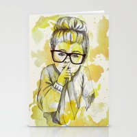 Silent Girl By Carograph… Stationery Cards