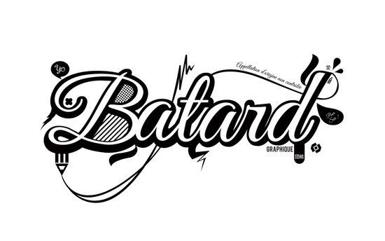 Batard Graphique Art Print