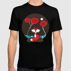 About a red fox Mens Fitted Tee Black SMALL