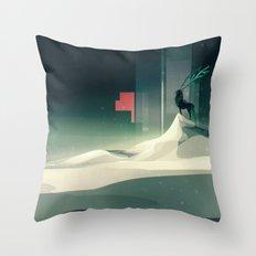 Winter in a dark world Throw Pillow