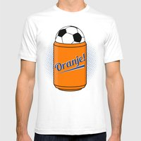 ORANJE! Mens Fitted Tee White SMALL
