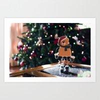 Waiting For Santa Art Print