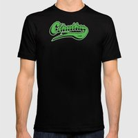 Cthulhu Baseball Logo Mens Fitted Tee Black SMALL