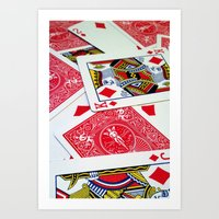 Deck Of Cards Art Print