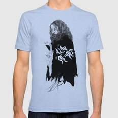 Alan Moore Mens Fitted Tee Tri-Blue SMALL
