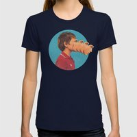 Sutphin Boulevard Womens Fitted Tee Navy SMALL