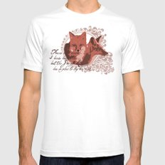 Foxes Have Dens Mens Fitted Tee SMALL White