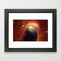 Space Volcano Framed Art Print