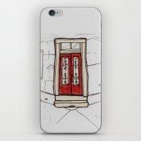 Red Doors  iPhone & iPod Skin