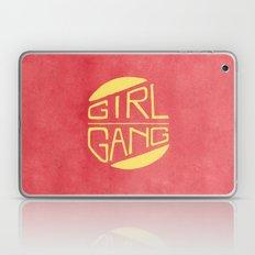Girl Gang - Watercolour Illustration of Bold Block Text Laptop & iPad Skin