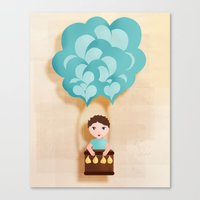Flotando Con Mi Imaginac… Canvas Print
