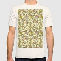painted floral Mens Fitted Tee Natural SMALL