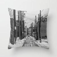Winter Alley Throw Pillow