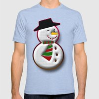 Snowman Mens Fitted Tee Tri-Blue SMALL