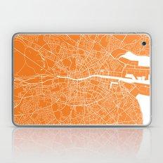 Dublin Map Orange Laptop & iPad Skin