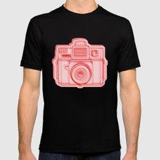 I Still Shoot Film Holga Logo - Reversed Red Mens Fitted Tee Black SMALL