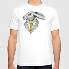 El conejo careta Mens Fitted Tee SMALL White