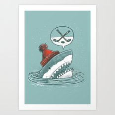 Hockey Shark Art Print